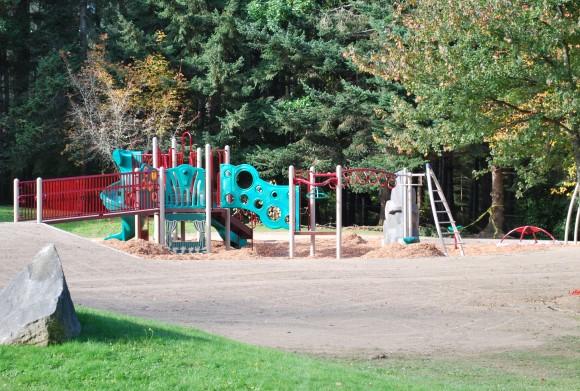 The new play structure at Eagledale Park on Bainbridge Island.