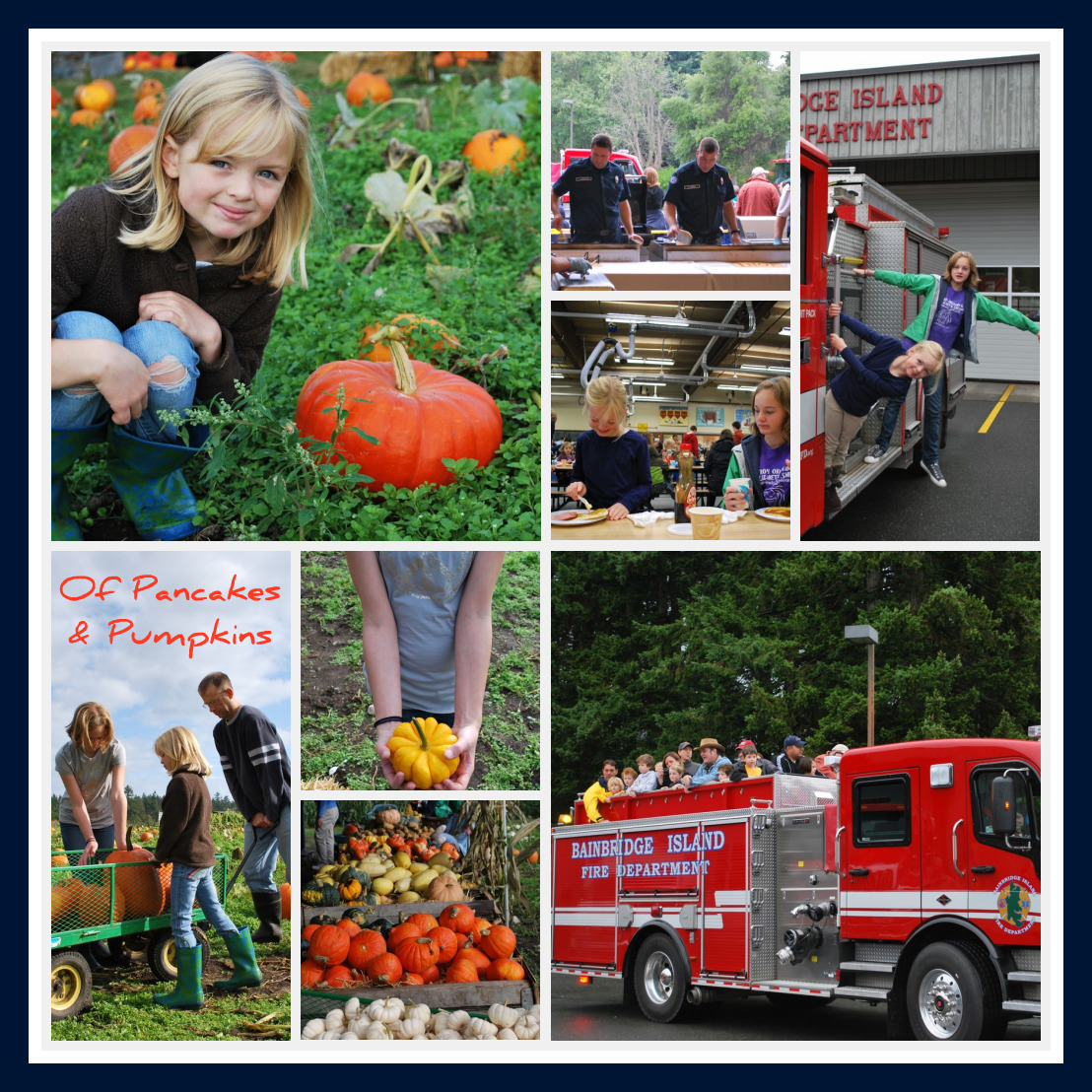 Suyematsu Pumpkin Patch on BainbridgeIsland and Fire Department Pancake Breakfast