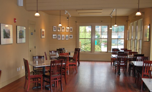 The expanded dining area at Treehouse Cafe.