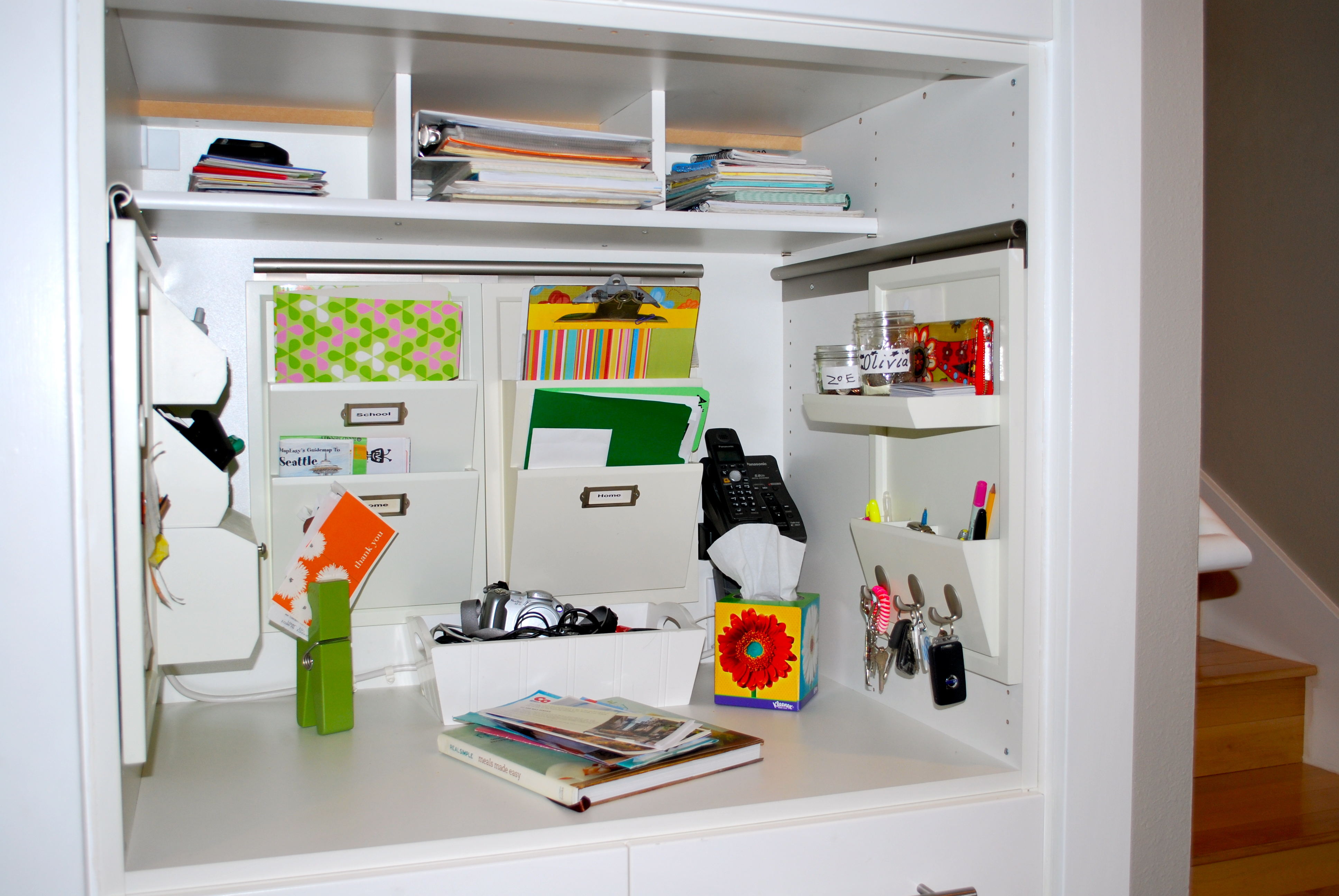The Pottery Barn Daily System fit perfectly into the IKEA cabinet shell.