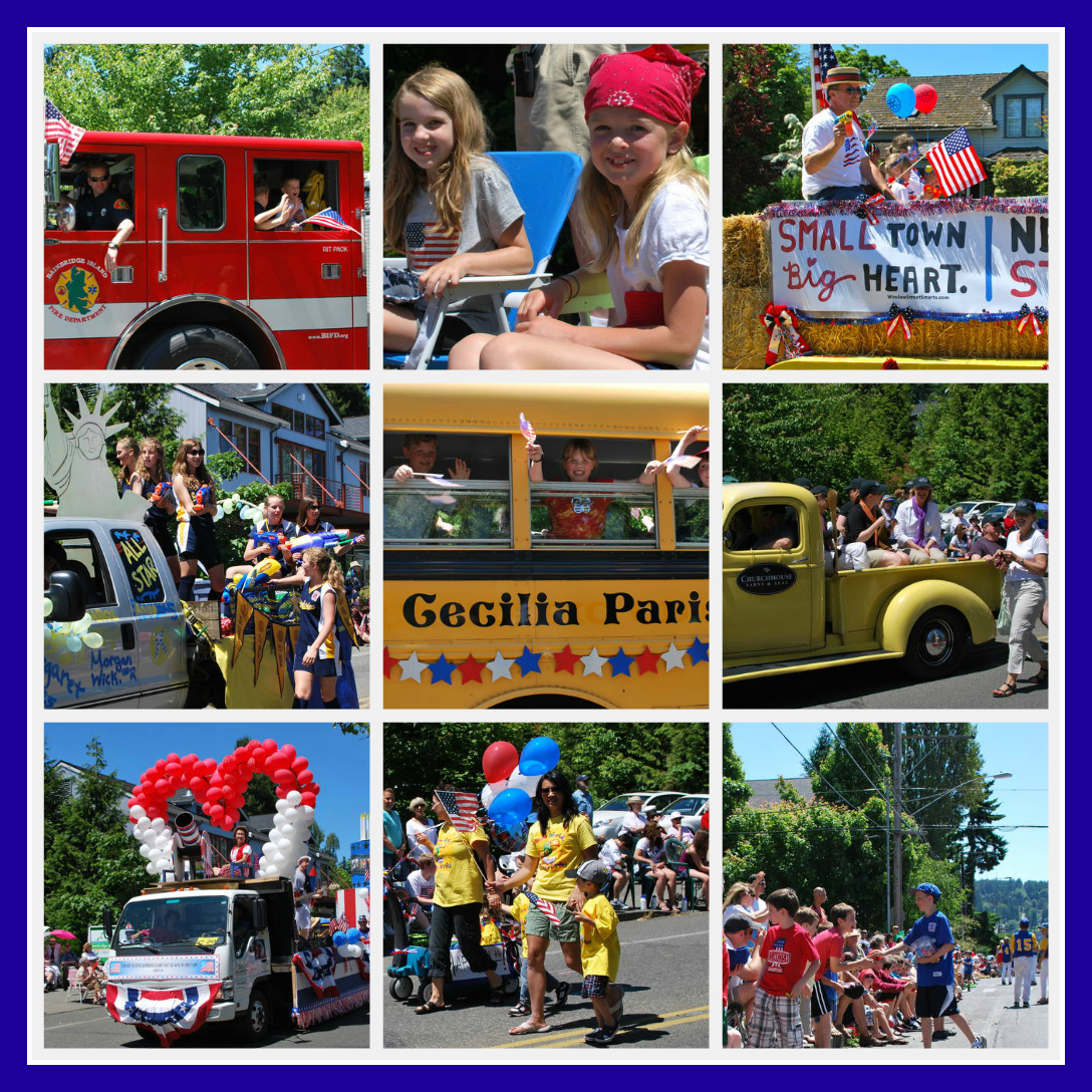 Bainbridge Island 4th of July Collage 2011 | Jen Pells Realtor