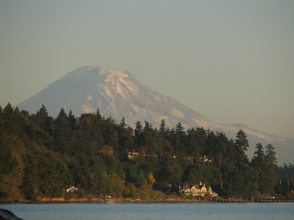 Mt. Rainier from Lytle Beach