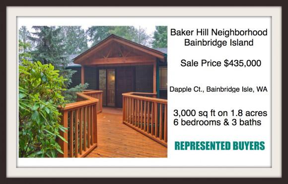 Dapple Ct Home on Bainbridge Island sold by Jen Pells, Realtor