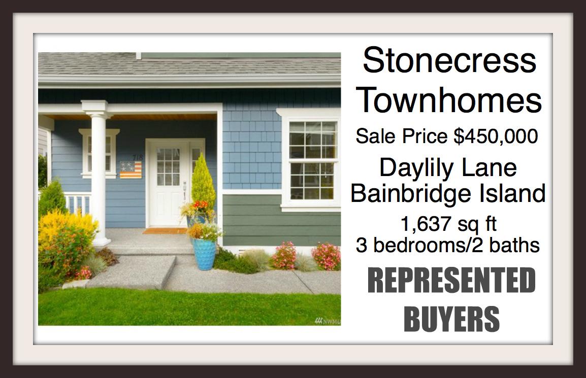 Townhouse sold by Jen Pells of Windermere Bainbridge