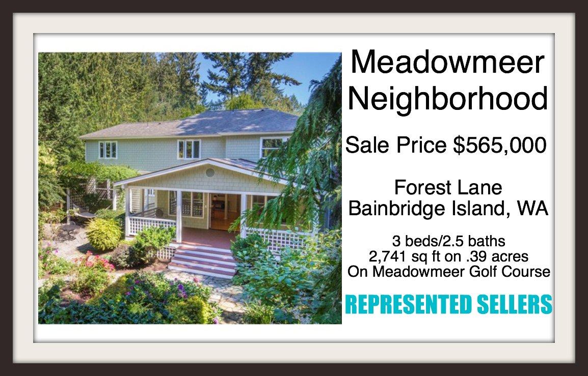 10971 Forest Lane Bainbridge Island, WA sold by Jen Pells