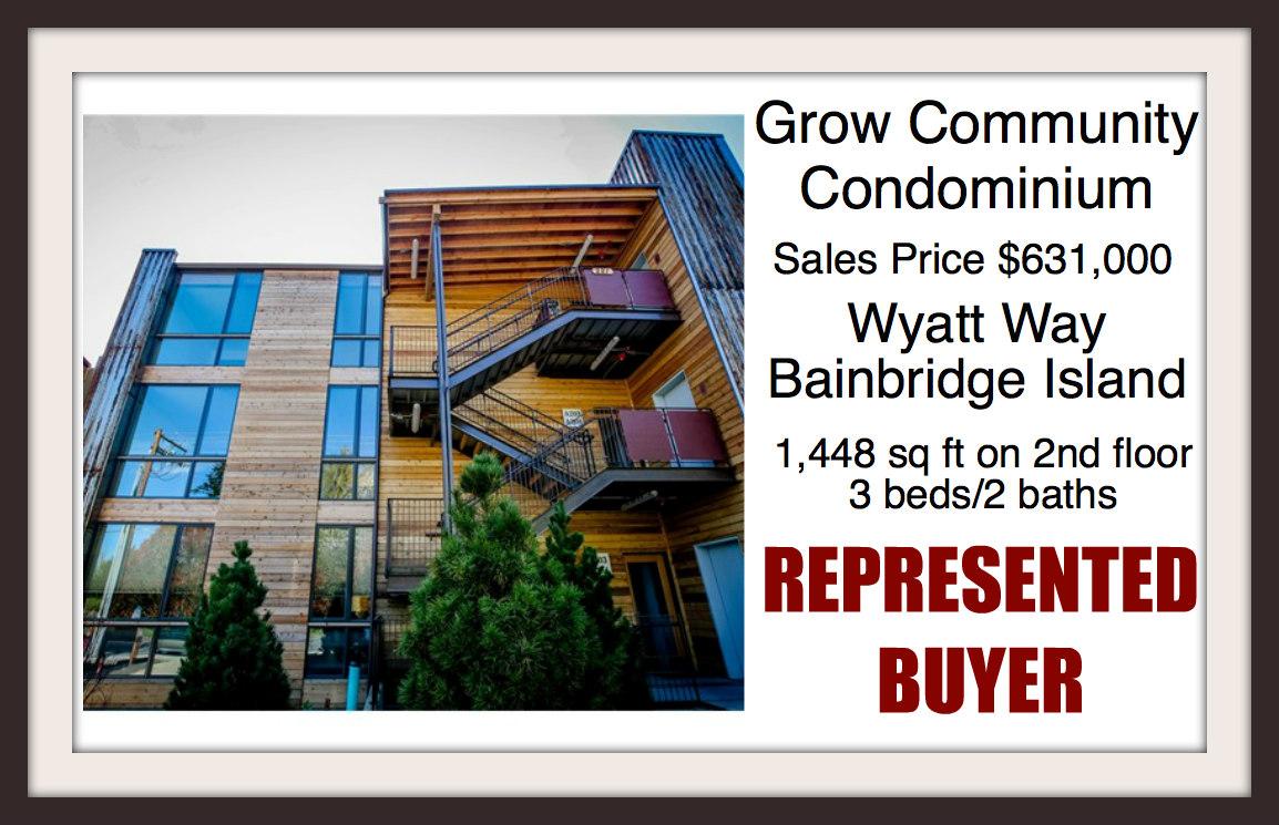 Grow Community Condo sold by Jen Pells of Windermere Bainbridge