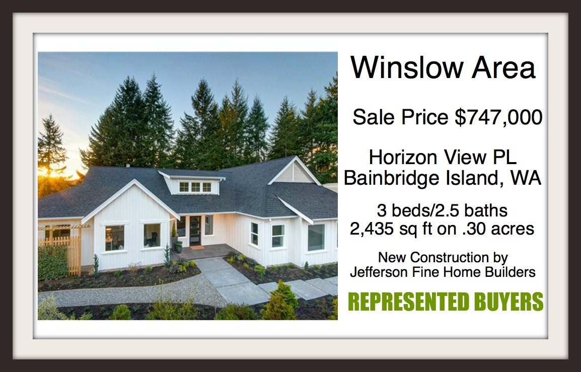 Horizon View Place Sold by Jen Pells Windermere Bainbridge