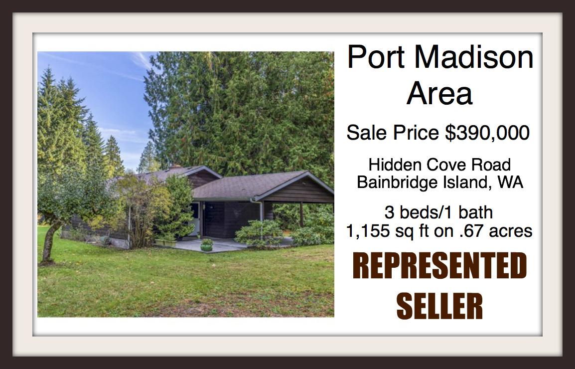 Home on Hidden Cove Rd on Bainbridge Island sold by Jen Pells Windermere Bainbridge