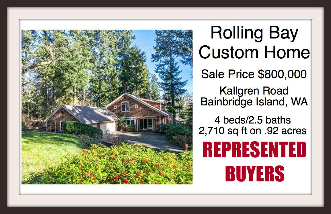 Kallgren Road home on Bainbridge Island sold by broker Jen Pells of Windermere