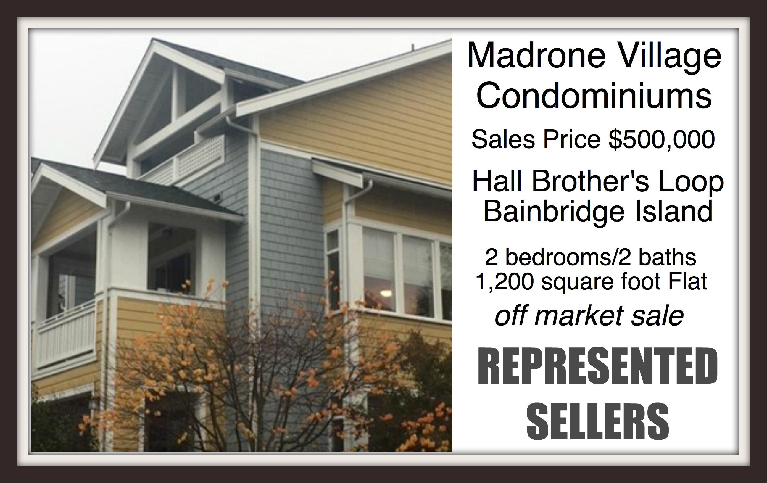 Madrone Village Condo on Bainbridge Island sold by Jen Pells Real Estate