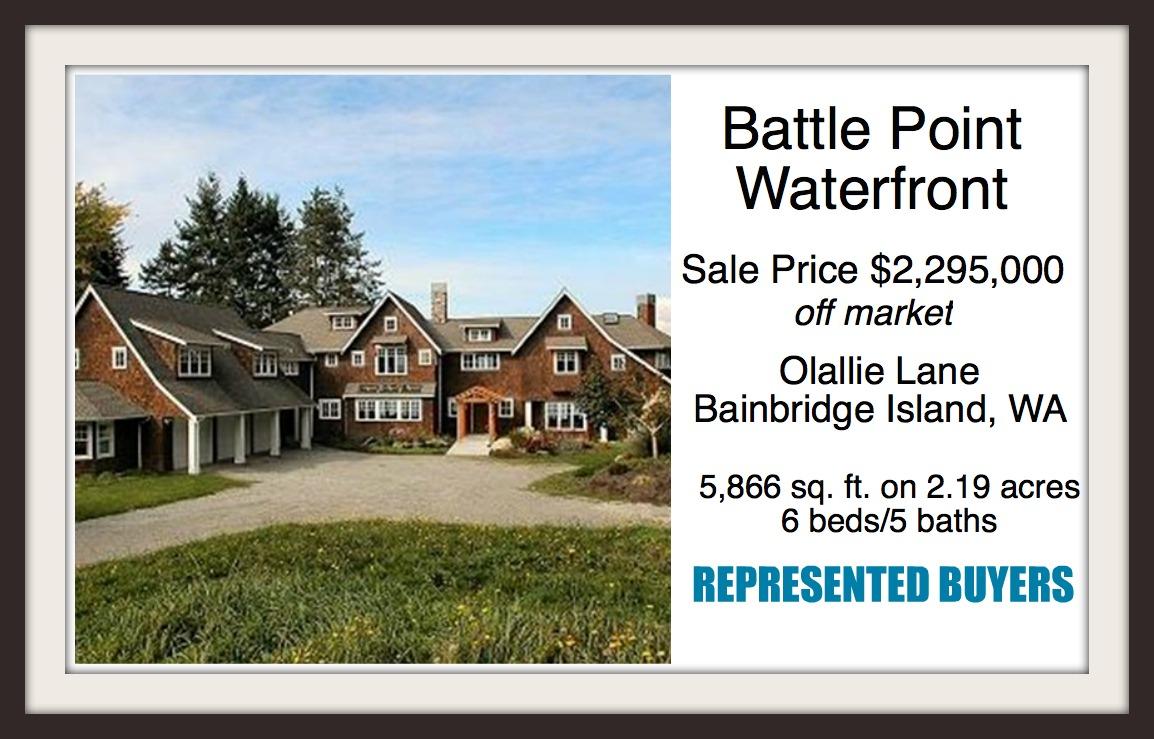 Olallie Lane Waterfront home on Bainbridge Island sold by Realtor Jen Pells