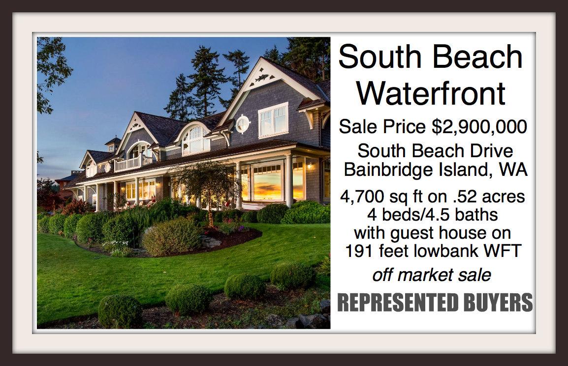South Beach Waterfront home on Bainbridge Island sold by broker Jen Pells of Windermere Bainbridge