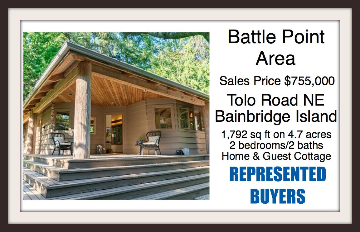 Tolo RD NE on Bainbridge Island Sold by Jen Pells Real Estate
