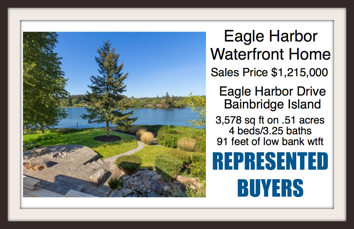 Eagle Harbor Drive Waterfront home sold by Jen Pells of Windermere Bainbridge