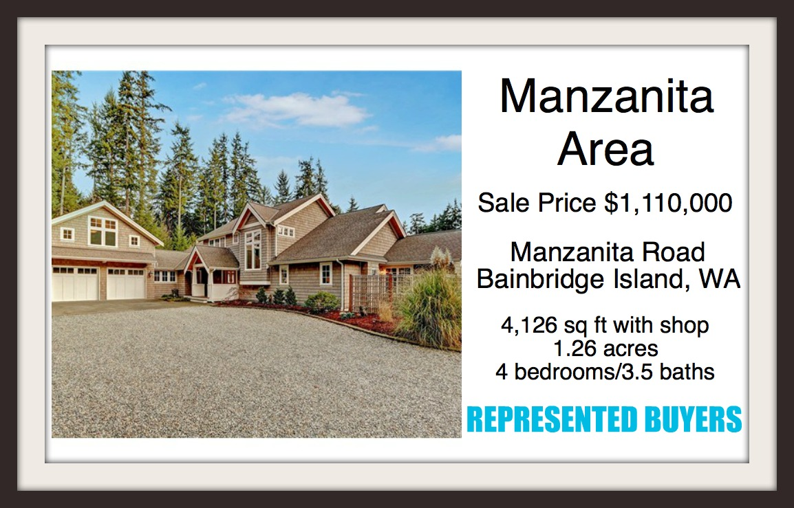 Manzanita Rd on Bainbridge Island Sold by Jen Pells
