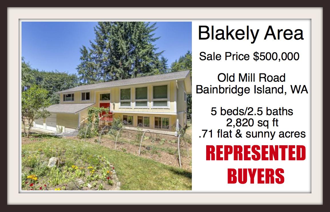 Old Mill Road home on Bainbridge Island sold by Jen Pells of Windermere Bainbridge