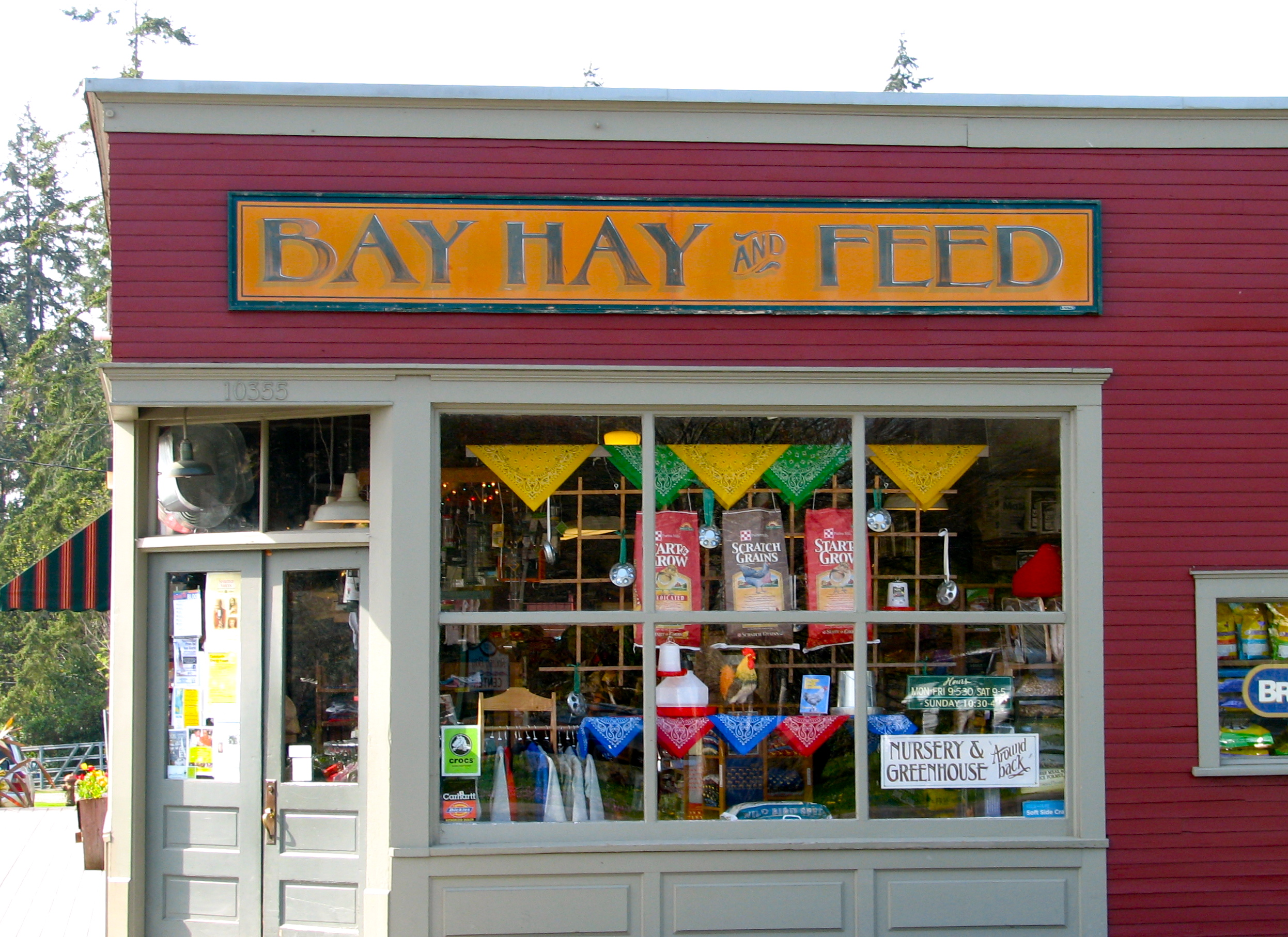 Bay Hay and Feed Store in Rolling Bay.