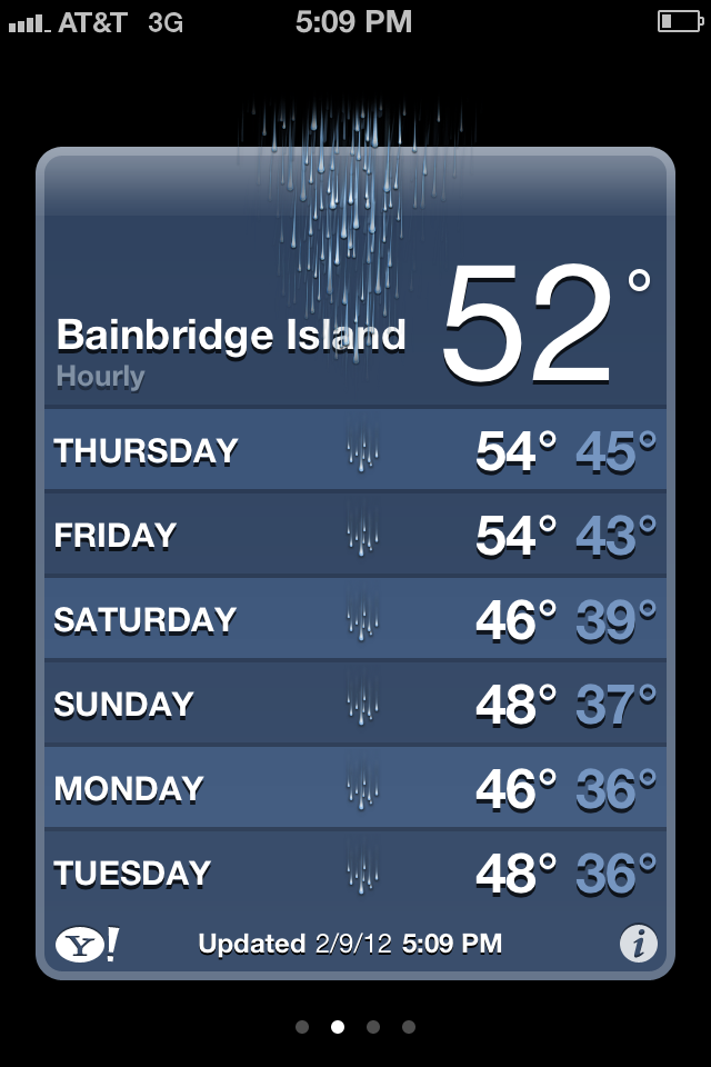 Bainbridge Island Weather - looks scarier than it is