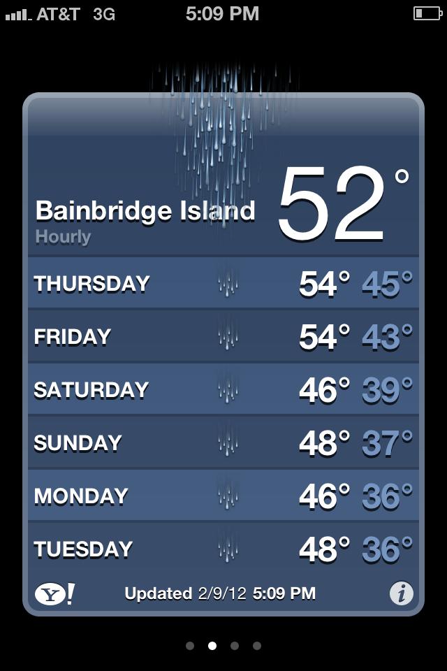 Bainbridge Island Weather - looks scarier than it is
