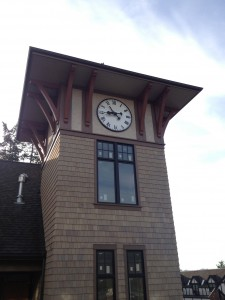 Only time will tell what the 2013 real estate market will look like - but so far, so good. The clock tower at the new Pleasant Beach Village.