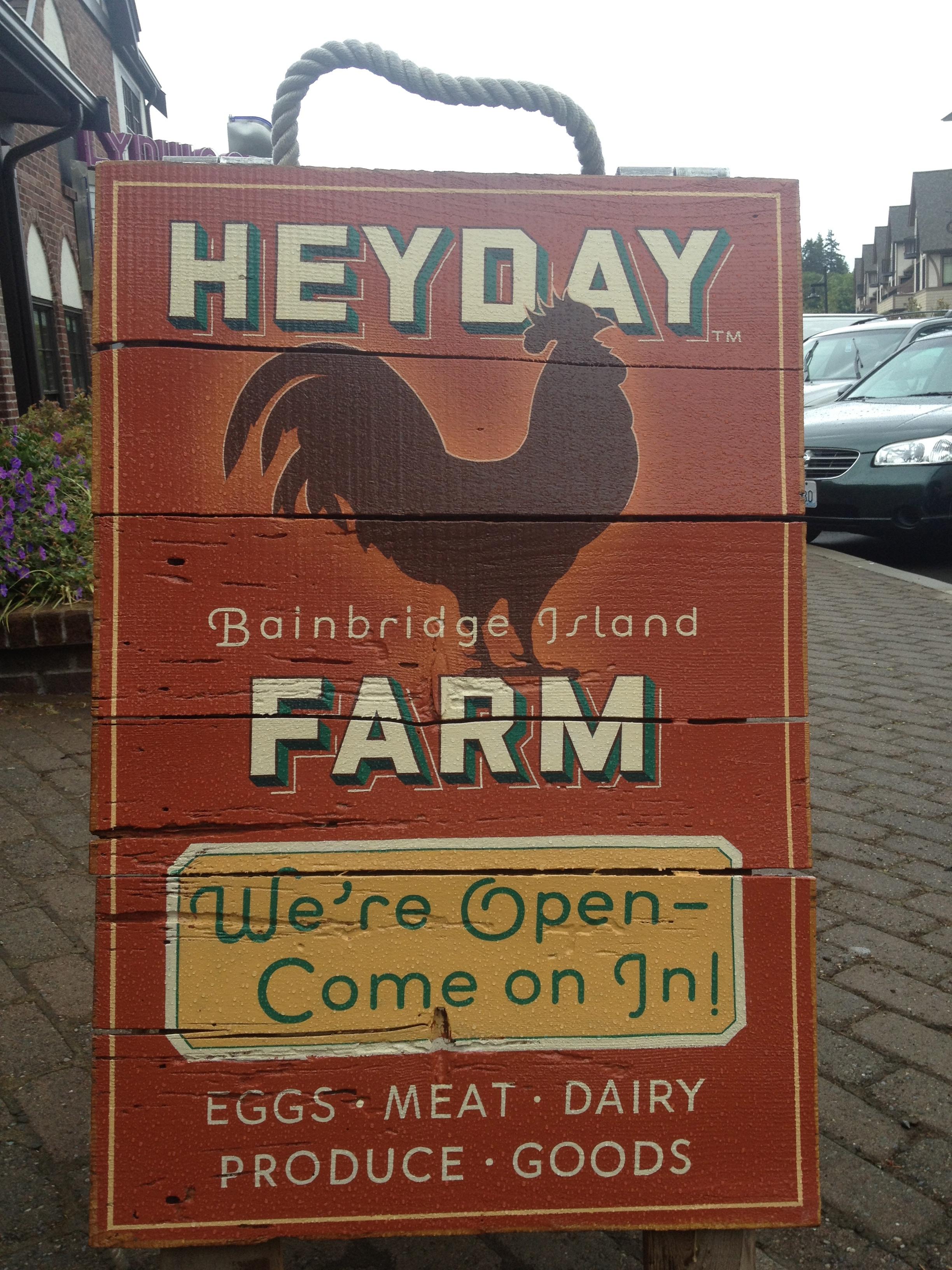 HeyDay Farm Store on Bainbridge Island.