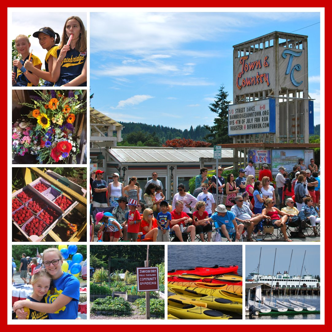 Bainbridge Summer collage 2014