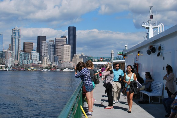 Seattle from Bainbridge Ferry