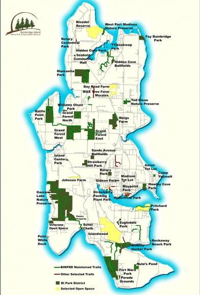 Bainbridge Island Trails Map