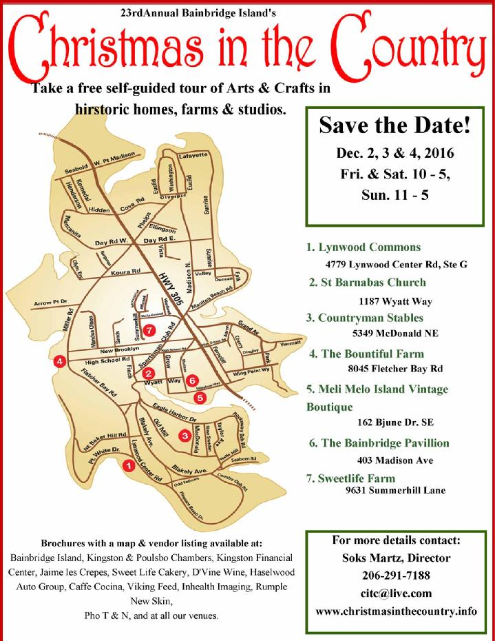 Bainbridge Christmas in the Country 2016 Map