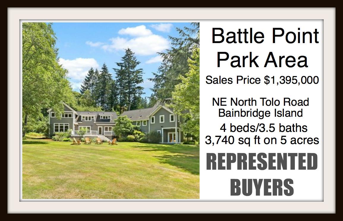North Tolo Road on Bainbridge Island sold by Jen Pells Real Estate