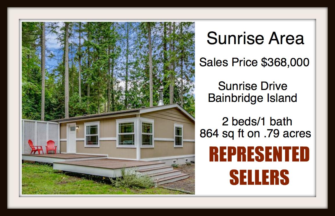 Sunrise Drive on Bainbridge Island sold by Jen Pells Real Estate