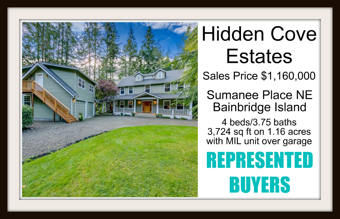Sumanee Place in Hidden Cove Estates on Bainbridge Island sold by Jen Pells Real Estate