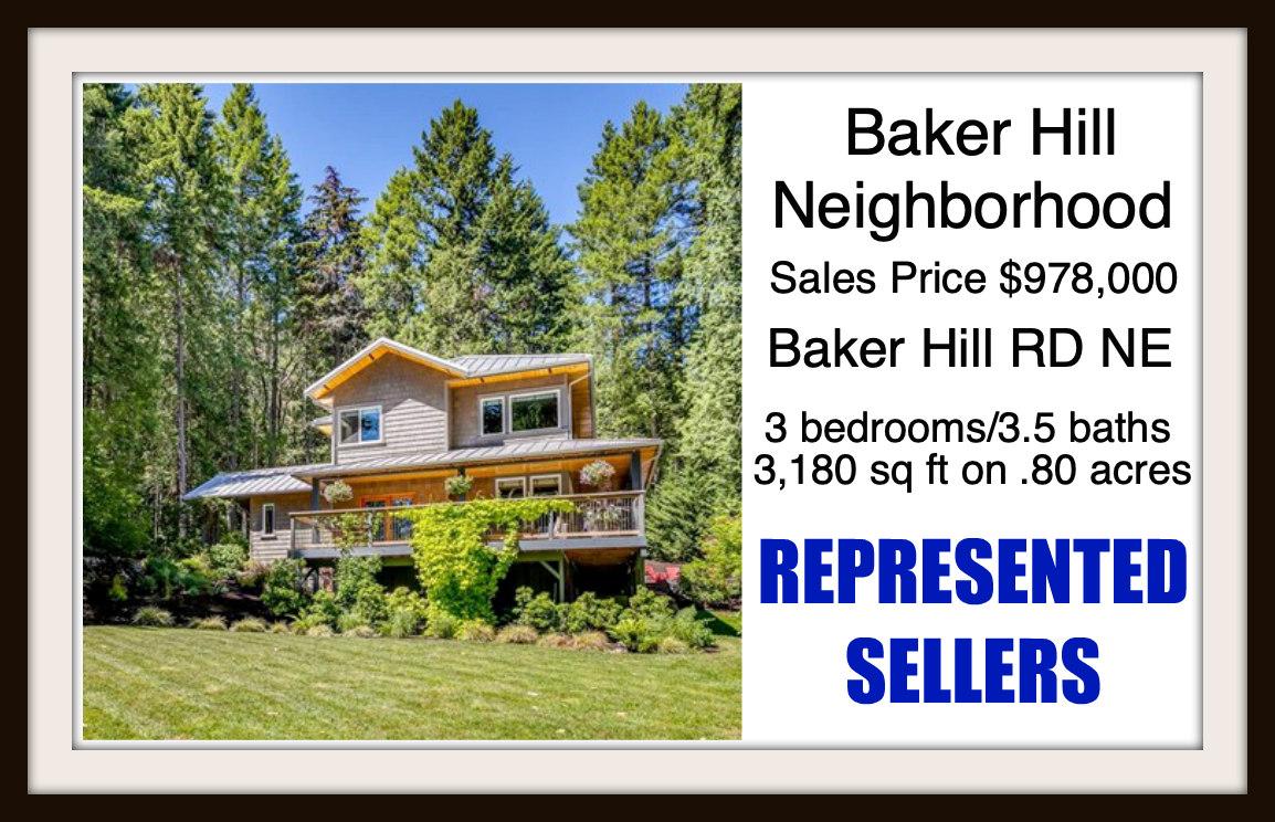 Baker Hill on Bainbridge Island sold by Jen Pells Real Estate