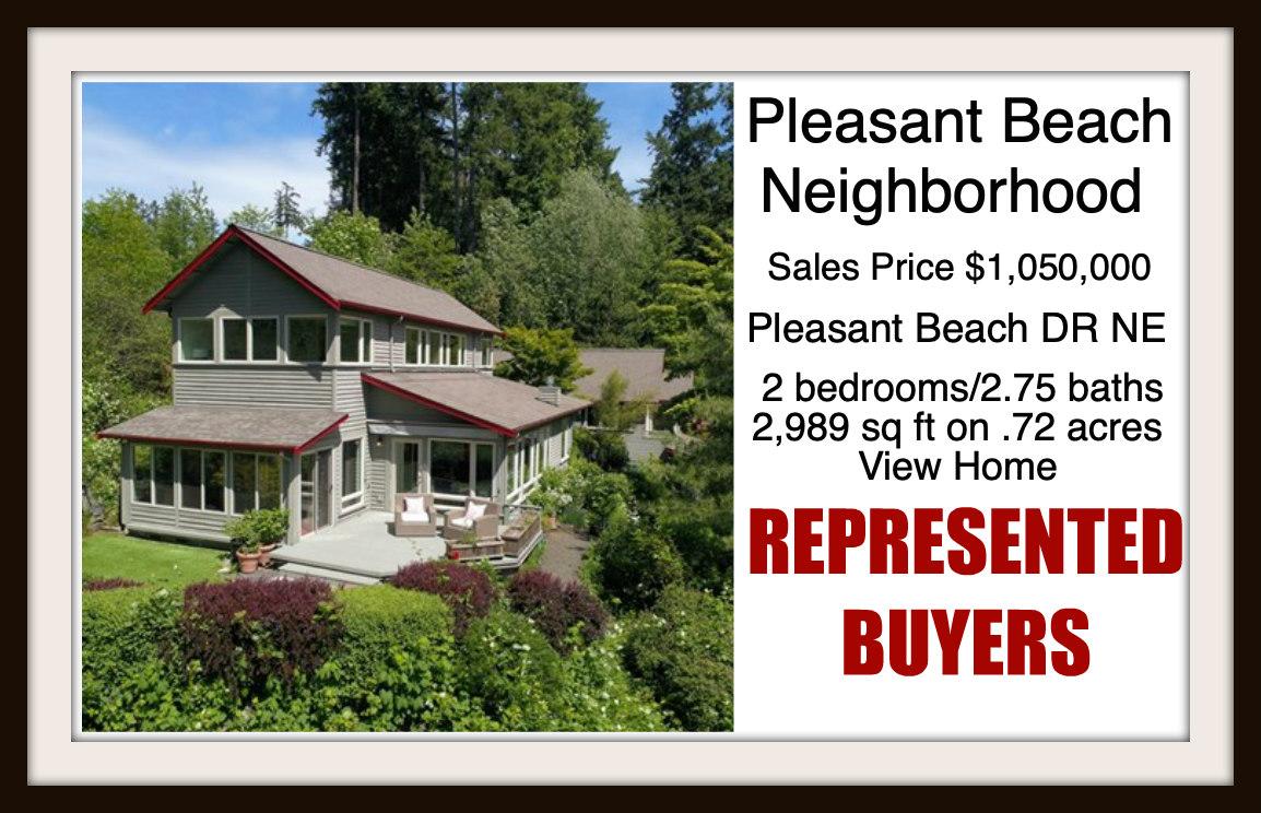 Pleasant Beach Drive on Bainbridge Island sold by Jen Pells Real Estate