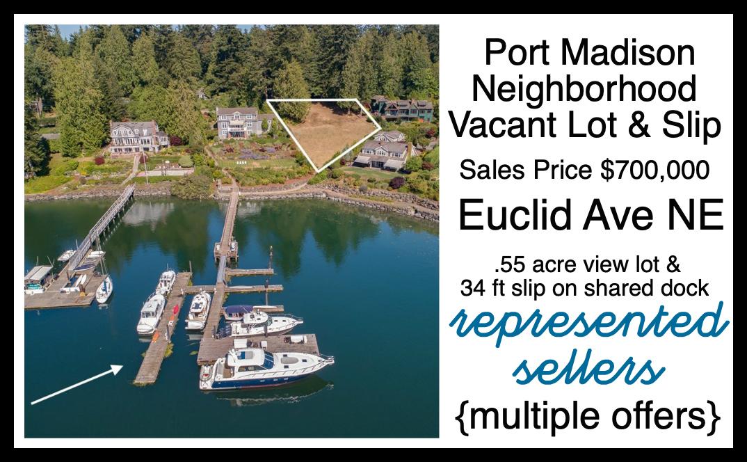 Euclid Vacant Lot & Slip sold by Jen Pells Realtor on Bainbridge Island