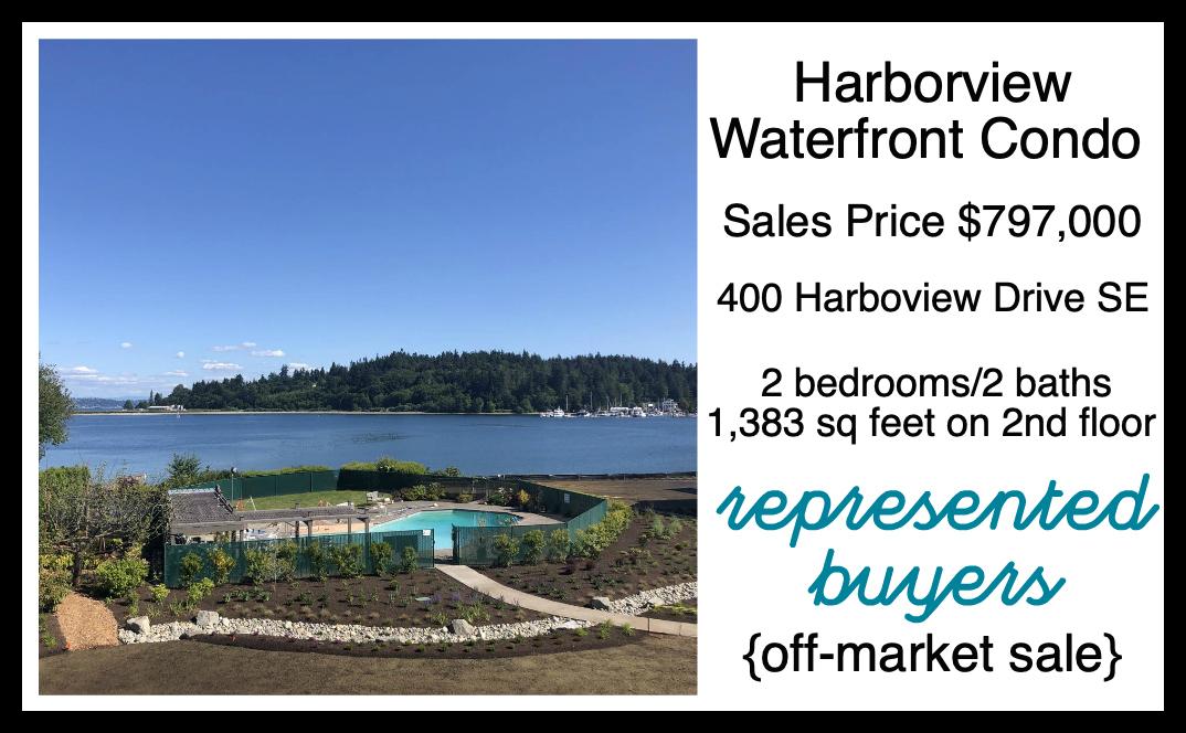 Harborview Condo Sold by Jen Pells Realtor on Bainbridge Island