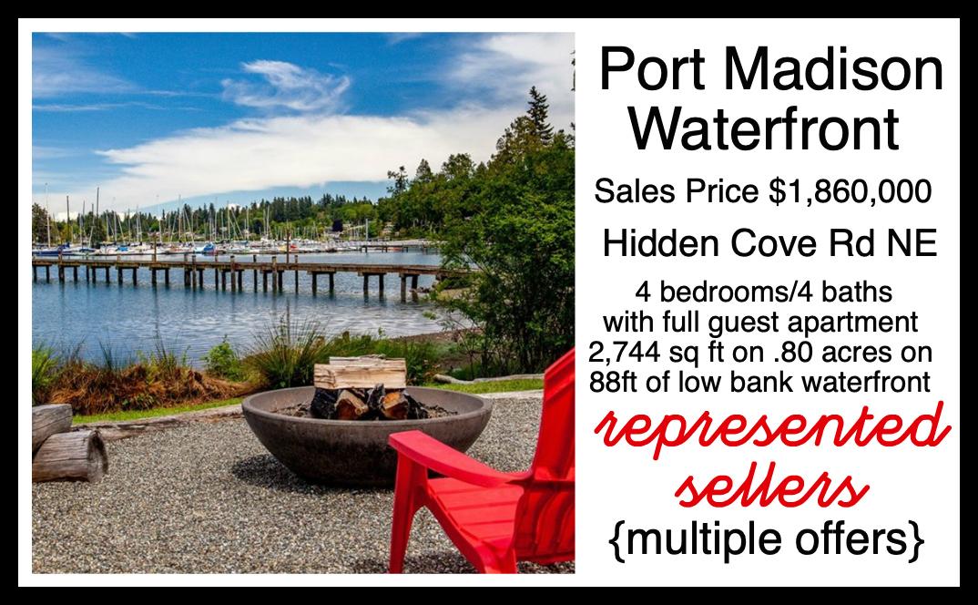 Hidden Cove Road Waterfront on Bainbridge Island sold by Jen Pells Realtor